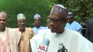 President Buhari Prays in Daura