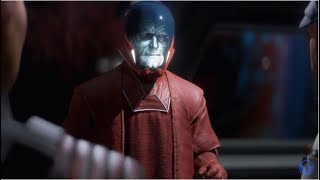 Star Wars Battlefront 2 (2017) - Iden Speaks With The Emperor's Messenger Cutscene [HD]