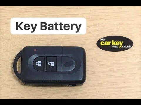 Key Battery Nissan Micra Note Qashqai Proximity key  HOW TO change key battery