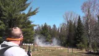 Launching Some Rims and a Pot With Exploding Targets
