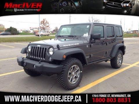 2014 Jeep Wrangler Unlimited Rubicon   MacIver Dodge Jeep   Newmarket Ontario