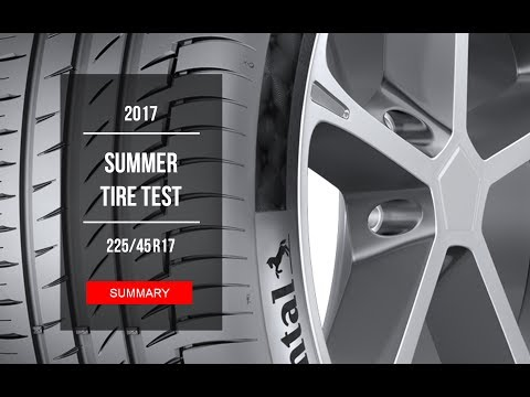 2017 Summer Tire Test Results | 225/45 R17