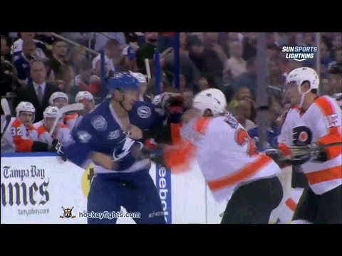 Vincent Lecavalier vs. Luke Schenn