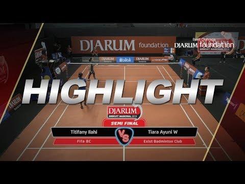 Titifany Ilahi (FIFA BC) VS Tiara Ayuni Wulandari (Exist Badminton Club)