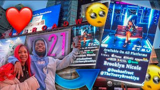 SURPRISED MY SISTER WITH HER OWN BILLBOARD IN TIMES SQUARE NEW YORK!! *She Cried*🥺