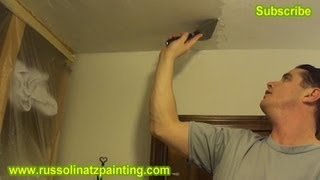 DIY Ceiling Repair  Skim Coat Over A Painted Popcorn Ceiling Part 3