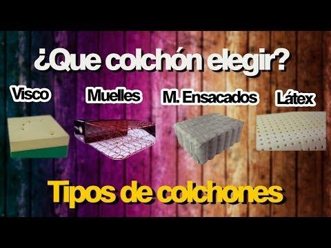 ¿Que colchón elegir? Tipos de colchones disponibles. Como comprar un colchón.