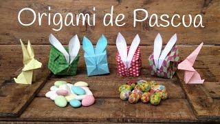 Manualidades para PASCUA: Caja conejo de papel | PAPIROFLEXIA fácil para niños