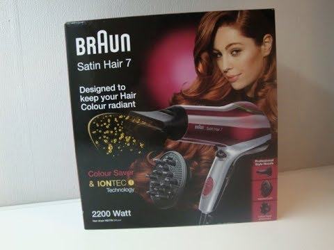 Braun Satin Hair 7 Haartrockner mit IonTec und Colour Saver Technologie