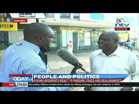 Kisumu residents react to ongoing political truces and realignments