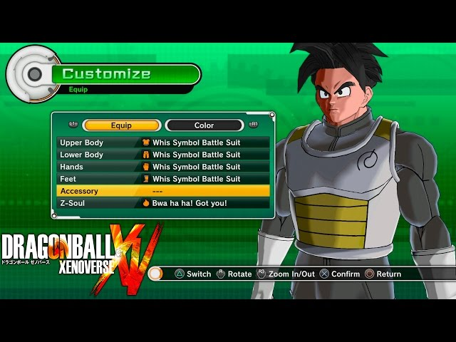 Whis Symbol Battle Suit Set Dragon Ball Xenoverse Whis Symbol Battle