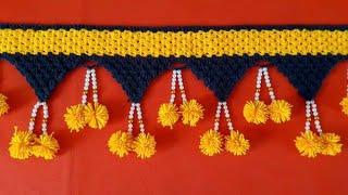 How to make door hangings with wool