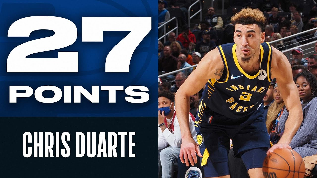 Chris Duarte ROOKIE Debut 27 PTS & 6 THEEES Setting Pacers Record! 😮