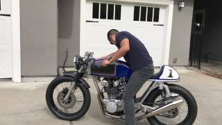 Honda CB 500T Café Racer Startup