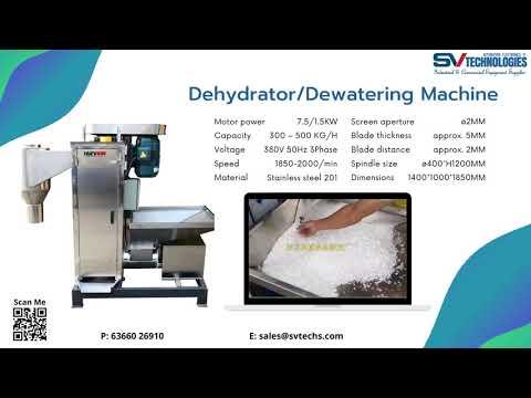 Plastic Flakes Washer  Centrifugal Dryer Dehydrator