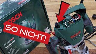 Bosch POF 1200 AE Anfänger Tischfräse selber bauen! Das kann jeder!
