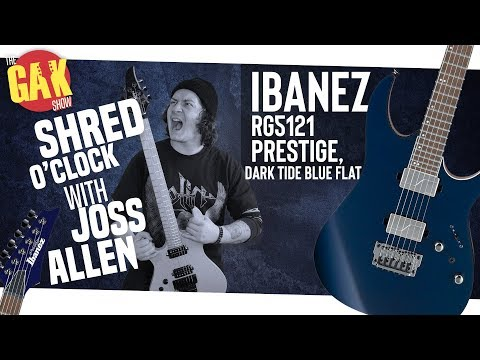 Ibanez RG5121 Prestige, Dark Tide Blue Flat | SHRED O'CLOCK W/ JOSS ALLEN