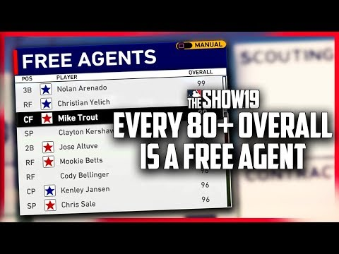 What if ALL 80+ Overall Players Were FREE AGENTS? | MLB the Show 19