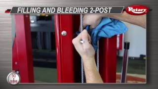90 Second Know How: Filling and Bleeding a 2 Post Lift