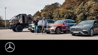 JP Kraemer und Matthias Malmedie mit 4 Sternen auf der Rennstrecke | Unimog, GLC F-CELL, GLE, CLA SB