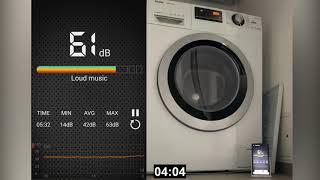Waschmaschine Haier Hatrium HW90-BP14636 Schleudergang mit 1200 upm Lautstärke und Zeit