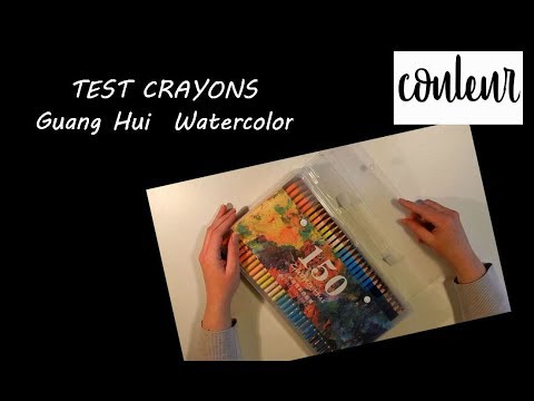 test crayons guanghui watercolor