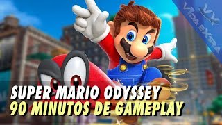 Super Mario Odyssey - 90 minutos de gameplay