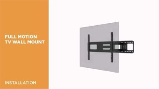 LPA36-463A Economy Solid Articulating Curved & Flat Panel TV Wall Mount Installation Video