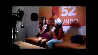 Montse visits Acceso Total on Telemundo Los Angeles with Celeste Santana