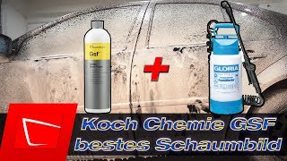 Koch Chemie Gentle Snow Foam Dosierung in Gloria FM30 Schaumsprüher - bestes Schaumbild