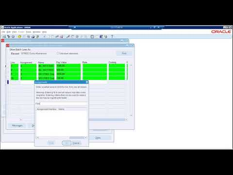 Oracle R12 HRMS Training | Payroll Corrections - YouTube