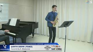 Quentin Gnemmi plays Concerto by A. Glazounov #adolphesax