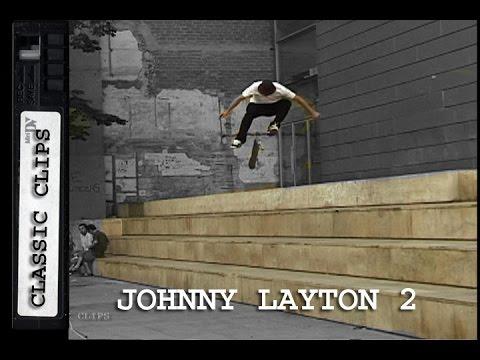 Johnny Layton Skateboarding Classic Clips #209 Part 2
