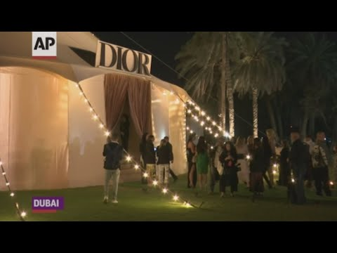 Under a large circus-style tent, Dior showcased its latest haute couture collection in Dubai (March 19)