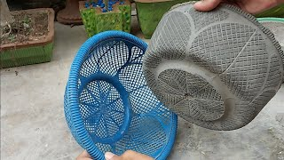 How To Make Beautiful Cement Pot At Home   Simple & Easy DIY Flower Pot Designs