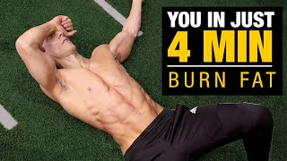 4 MIN Morning Fat Burning Workout (BURN FAT FAST!)