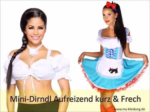 Freches Sexy Mini Dirndl für Oktoberfest online günstig kaufen!