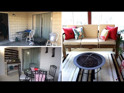 Patio Makeover On A Budget | DIY Patio Furniture | Interior Design Before and After
