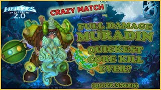 Grubby   Heroes of the Storm 2.0 - Full Damage Muradin - Quickest Core Kill Ever? - QM - GoT