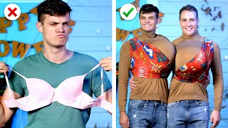 8 Funny Halloween Costume Ideas! DIY Halloween Costumes and Makeup
