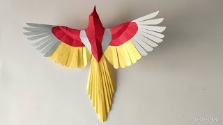 How To Make Paper Bird | Paper Art And Craft | #sunitakumariarts Diy Paper Work Easy Stape