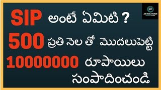 SIP IN TELUGU : What is systematic investment plan in Telugu -SIP IN TELUGU and HINDI(2018)