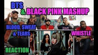BTS & BLACKPINK - 피 땀 눈물 BLOOD, SWEAT & TEARS X 휘파람 WHISTLE (MASHUP) REACTION/REVIEW