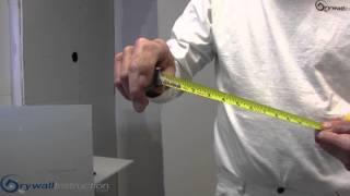 """Fast"" Drywall cutting technique - Drywall Instruction"