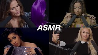 ASMR | Celebrities Try ASMR (Whispers, Tapping, etc..)