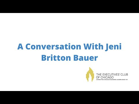 The Executives Club of Chicago: A Conversation with Jeni Britton Bauer
