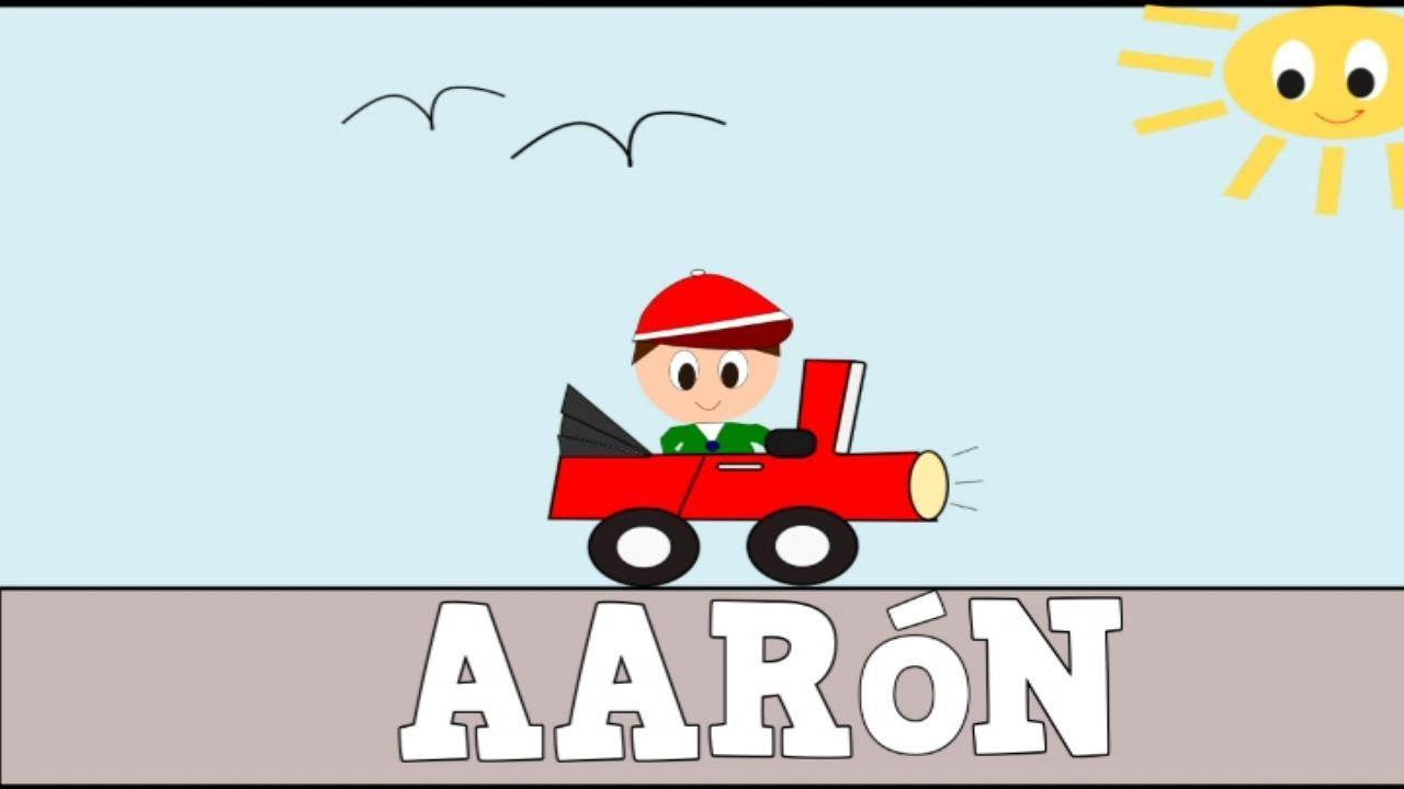 Aprender a Leer y Escribir AARÓN - Vídeos educativos para Niñosy Bebés - Paty y Poty