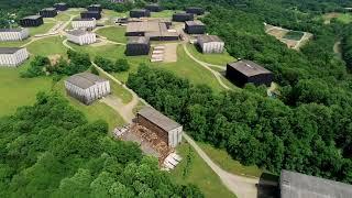 Drone footage: Bourbon barrel storage facility collapse