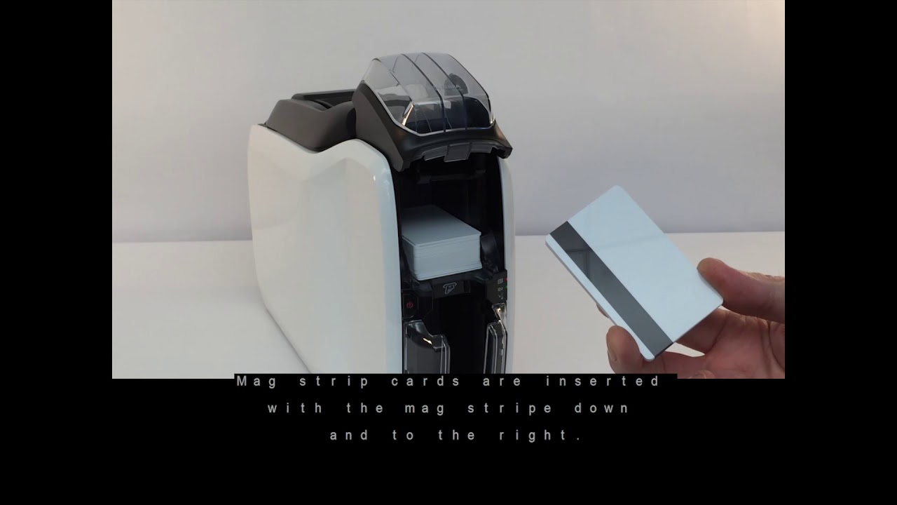 Zebra ZC100/300 Series ID Card Printers - How to Load Cards