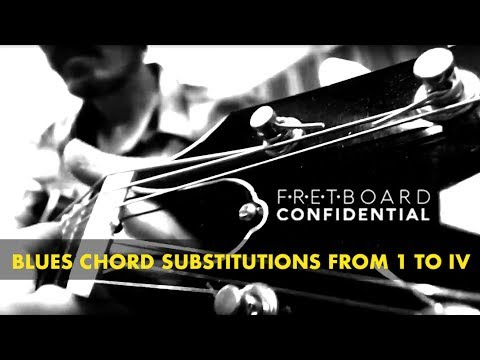 Blues Guitar Chord Substitutions from I to IV